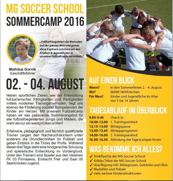 Sommercamp 2016 in Höhfröschen
